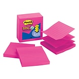 Post-it® Super Sticky Pop-Up Notes, 4 x 4, Fuchsia, Lined, 5 Pads/Pack (R440-FFSS)