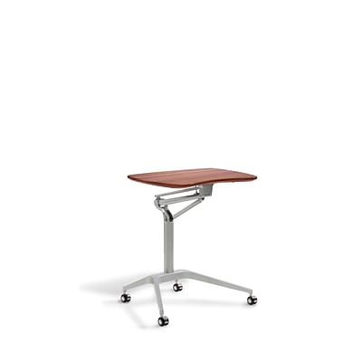 Unique Furniture Workpad Stand Up Height Adjustable Desk with Cherry Top (208-CH)