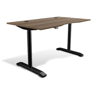 Unique Furniture 100 Collection Electric Height Adjustable Standing Desk 55 Walnut (75532-WAL)