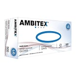 Ambitex P6505 Series Polyethylene Disposable Gloves, L, Clear, 500/Box (PLG6505)