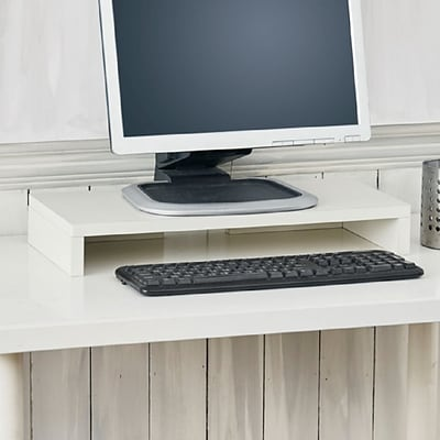 Way Basics 19.7W Simple Computer Monitor Stand, White (WB-STAND-WE)