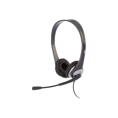 Cyber Acoustics AC Computer Headset, Over-the-Head, Black (AC-204)