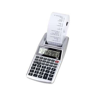 Canon P1-DH V-2 2203C001AA 12-Digit Desktop Printing Calculator, Silver