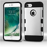 Insten Rubberized Space Silver/Black TUFF Trooper Hybrid Dual Layer Case Cover for Apple iPhone 7