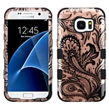 Insten Tuff Phoenix Flower Hard Hybrid Rubberized Silicone Case For Samsung Galaxy S7 - Rose Gold/Bl