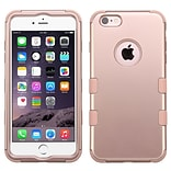 Insten Tuff Hard Hybrid Rubber Coated Silicone Case For Apple iPhone 6s Plus / 6 Plus - Rose Gold