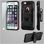 Insten Kinetic Hybrid Holster Case (with Tempered Glass Screen Protector) For Apple iPhone 6s Plus /