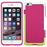 Insten Rubber Cover Case For Apple iPhone 6 Plus - Hot Pink/Green