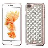 Insten Sparkly Diamante Hard Cover Case For Apple iPhone 7 Plus/ 8 Plus, Silver (with 3D Rhinestone