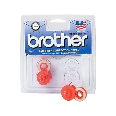 Brother White Print Ribbons, 2/Pack (3010)