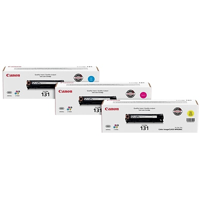 Canon 131 Color Combination Toner Cartridges, Standard Yield, 3/Pack (CART 131 BUNDLE)