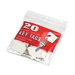 MMF Industries Slotted Rack Key Tags, White, 20/Pack (201300006)