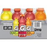 Gatorade Thirst Quencher Assorted Flavor Liquid Sports Drink, 20 Fl. oz, 12/Carton (QUA20162)