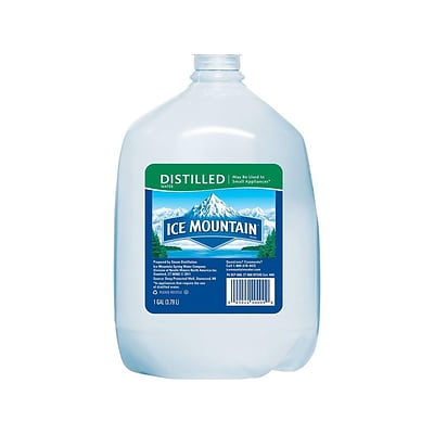 Ice Mountain Distilled Water, 128 Fl. Oz., 6/Carton (11475178)