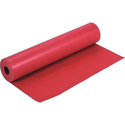 Rainbow Duo-Finish Paper Roll, 36W x 1000L, Scarlet (0063030)