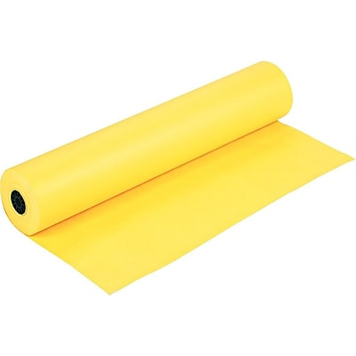Rainbow Duo-Finish Paper Roll, 36W x 1000L, Canary (0063080)