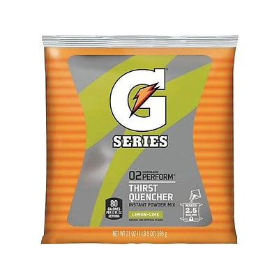 Gatorade Thirst Quencher Lemon Lime Powdered Sports Drink Mix, 21 oz., 32/Carton (308-03969)