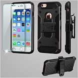 Insten Kinetic Hard Hybrid Holster Case (with Tempered Glass Screen Protector) For Apple iPhone 6 /