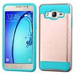 Insten Hard Dual Layer TPU Cover Case For Samsung Galaxy On5 - Rose Gold/Blue