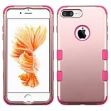 Insten Tuff 3-Piece Style Shockproof Soft TPU Hard Hybrid Cover Case For iPhone 7 Plus - Rose Gold/P