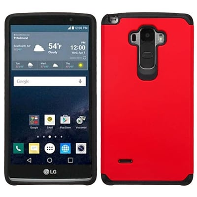 Insten Hard Dual Layer Rubber Coated Silicone Case For LG G Stylo - Red/Black