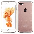 Insten Glassy Transparent Clear SPOTS TPU Rubber Candy Skin Case Cover for Apple iPhone 7 Plus/ 8 Pl