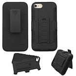 Insten Dual Layer Heavy Duty Hard Hybrid Holster Case with Belt Clip For Apple iPhone 7/ 8, Black