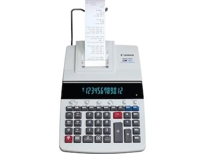 Canon MP27DII 8707B001AA 12 Digit Desktop Printing Calculator, Gray