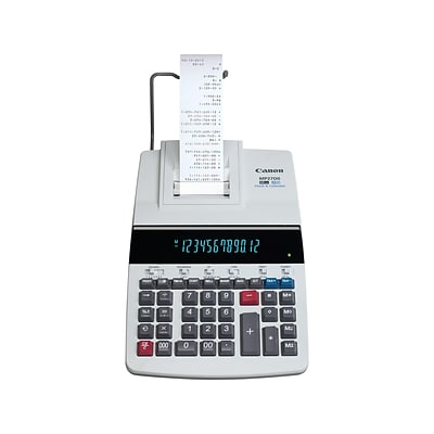 Canon MP27DII 8707B001AA 12-Digit Desktop Printing Calculator, Gray
