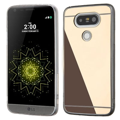 Insten Rubber Cover Case For LG G5 - Gold