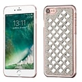 Insten Sparkly Diamante Hard Cover Case For Apple iPhone 7/ 8, Silver (with 3D Rhinestone Diamond)