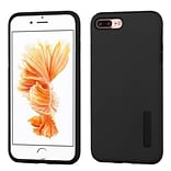Insten Hybrid Dual Layer Silicone Hard Cover Case For Apple iPhone 7 Plus - Black
