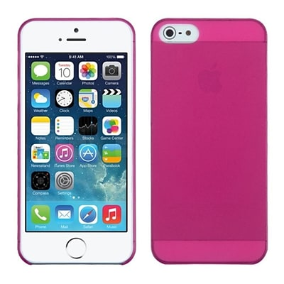 Insten Hot Pink Frosted Phone Back Cover Case For Apple iPhone SE 5S 5