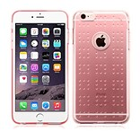 Insten Rubber Gel TPU Spots Shock-Absorbing Case Cover for iPhone 6 Plus / 6S Plus - Glassy Transpar