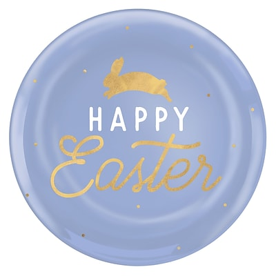 Amscan Happy Easter 10.5 in. Coupe Plates, Pack of 10 (430829)