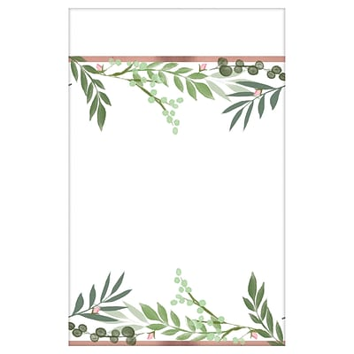Amscan Love and Leaves Bridal Shower Paper Table Cover, Pack of 3 (572143)