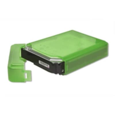 Syba Plastic Storage Box for 3.5 HDD Fit 1 HDD Dust-proof Anti-Static Green