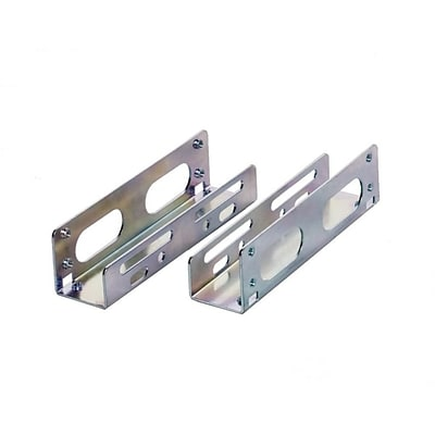 Syba 3.5 HDD Mounting Bracket Kit for 5.25 Bay Die cast 1.00 mm Metal Strips