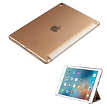 Insten Book-Style Leather Fabric Case w/stand For Apple iPad Pro (9.7) - Gold