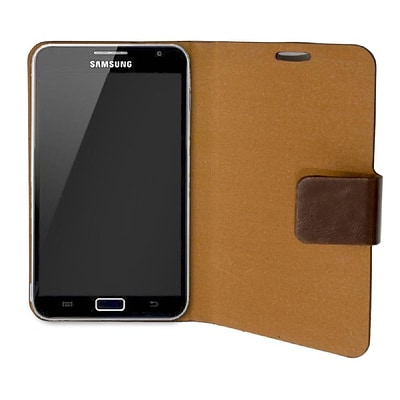 Connectland PU Leather Portfolio Case+Stand For Samsung Galaxy Note 5.3 Brown