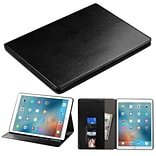 Insten Flip Leather Fabric Case w/stand/card holder/Photo Display For Apple iPad Pro (12.9) - Black