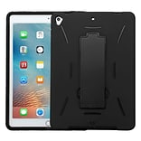 Insten Symbiosis Skin Hybrid Rubber Hard Case w/stand For Apple iPad Pro (9.7) - Black (2235490)