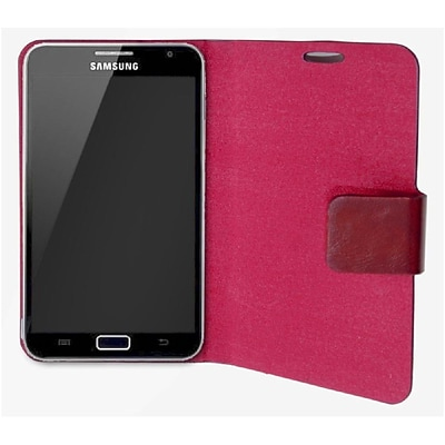 Connectland PU Leather Portfolio Case+Stand For Samsung Galaxy Note 5.3 Red