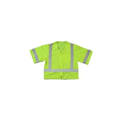 Mutual Industries MiViz ANSI Class 3 High Visibility High Value Mesh Safety Vest; Lime, 2XL/3XL