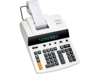 Canon CP1213DIII 9933B001 12 Digit Desktop Printing Calculator, White