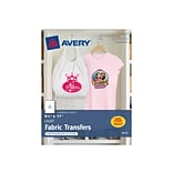 Avery Fabric Transfer Paper, 8.5 x 11, White, 6/Pack (3271)