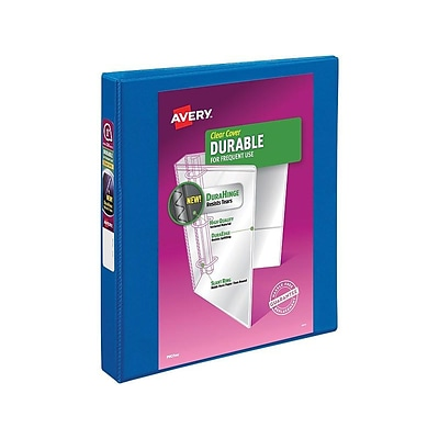 Avery Durable 1 3-Ring View Binder, Dark Blue (17007/17014)