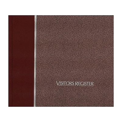 Rediform Visitor Book, 128 Pages, Burgundy (57803)