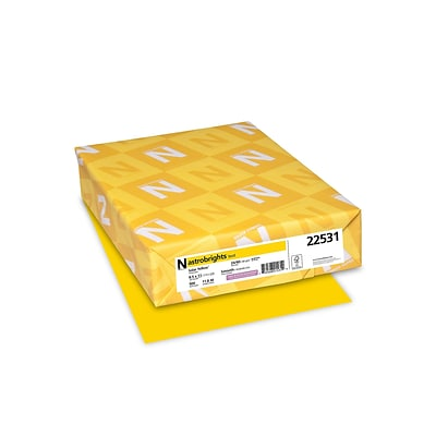 Astrobrights Multipurpose Paper, 24 lbs, 8.5 x 11, Solar Yellow, 500/Pack (22531)