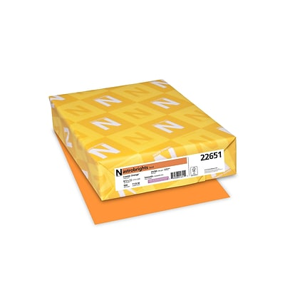Astrobrights Multipurpose Paper, 24 lbs, 8.5 x 11, Cosmic Orange, 500/Pack (22651)